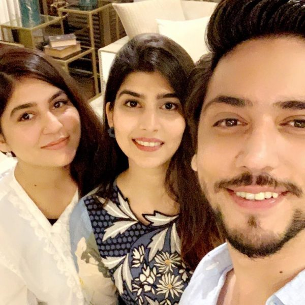 Lovely Pictures of Ahmed Godil with his Wife at Sanam Baloch House