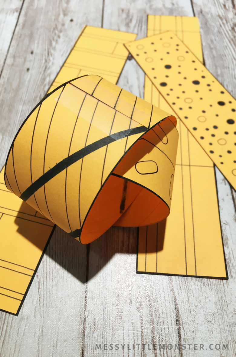 3D pumpkin craft directions