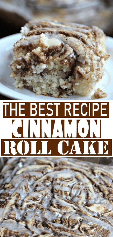 EASY COFFEE #CAKE RECIPE – THE BEST #CINNAMON ROLL #CAKE RECIPE