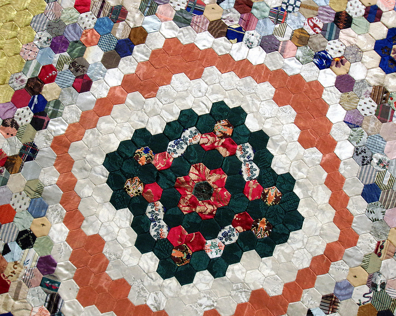 Hexagon Quilt 1850-60 - Unknown Maker | Making the Australian Quilt 1800-1950