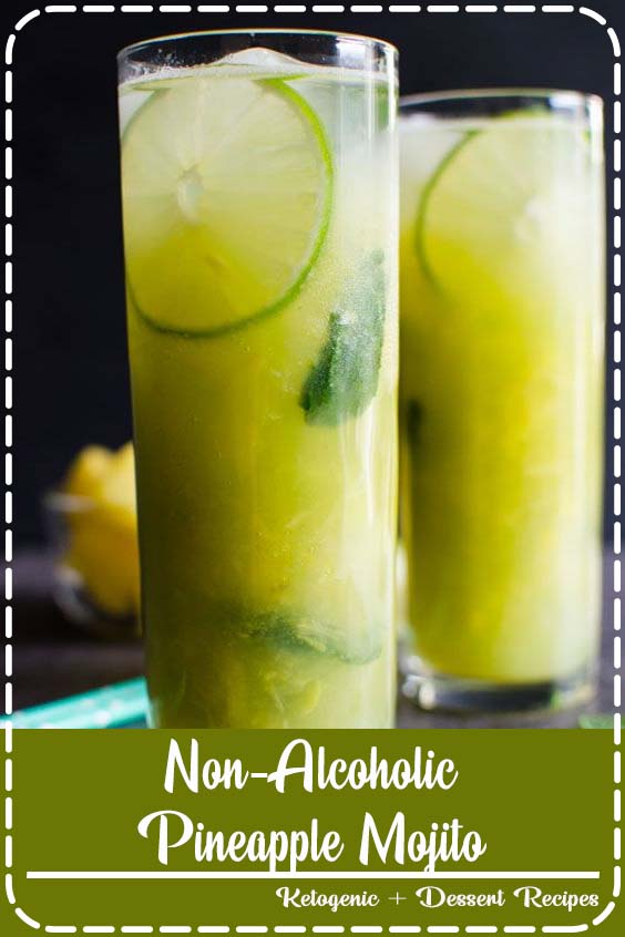 alcoholic pineapple mojito is a perfect combination of fresh fruits to stay hydrated Non-Alcoholic Pineapple Mojito