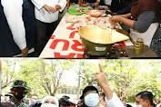 Jelang Hari Raya, Gubernur Khofifah Bareng Gus Ipul Kompak Cek Harga Sembako di Pasar Besar Pasuruan
