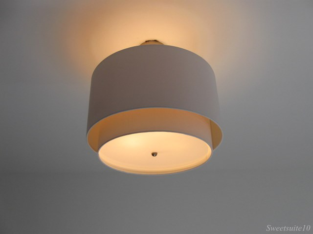 New Bedroom drum shade overhead light