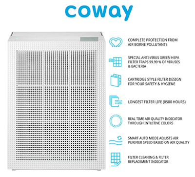 Coway Professional Air Purifier for Viruses & Allergens Free Air and Healthy Breath