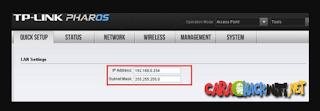 Alamat IP default CPE