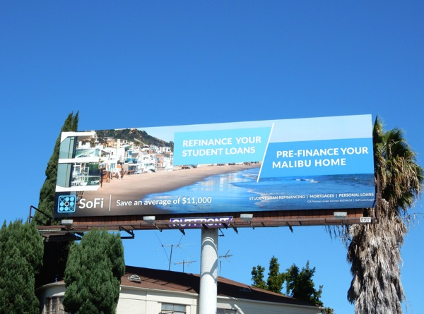 SoFi Pre-Finance Malibu home billboard