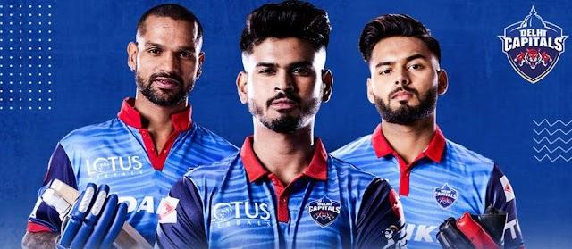 IPL 2021 : Delhi Capitals Full Players List