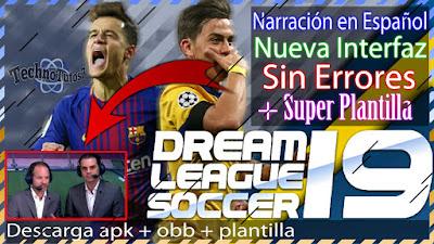 Descargar Dream League Soccer 2019 Full Con Narradores En Espanol