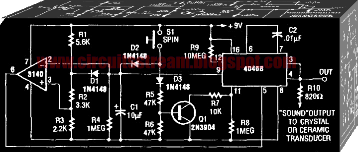 Simple Sound Generator Circuit Diagram Electronic