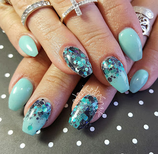 spring teal coffin nails