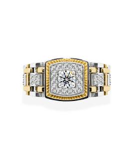 Nhẫn kim cương nam cầu kỳ xa hoa