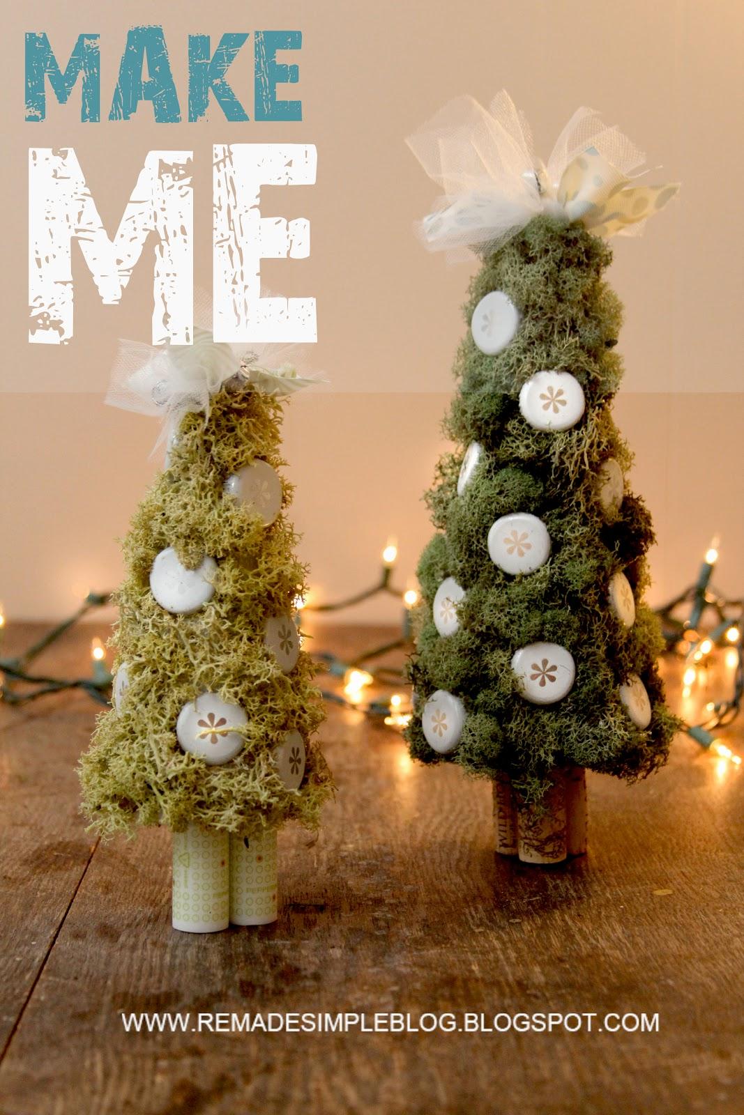 ReMadeSimple: Upcycled MIni Christmas Trees