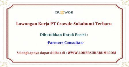 Lowongan Kerja PT Crowde Sukabumi Terbaru 2020