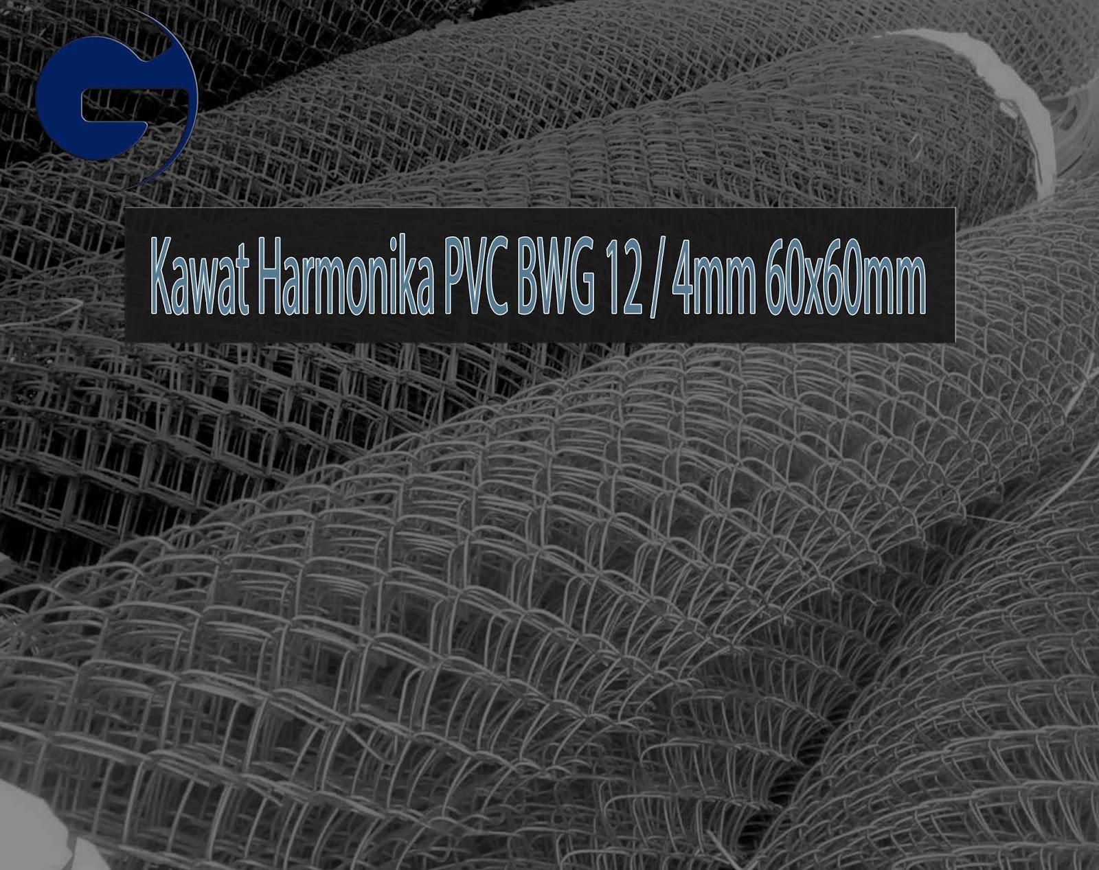 Jual Kawat Harmonika PVC SNI BWG 12/4mm 60x60mm