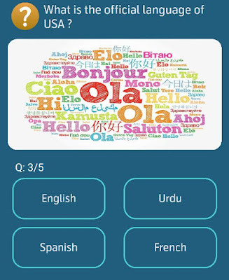 What is the official language of USA?