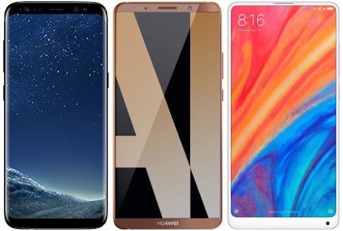 Samsung Galaxy S8 vs Huawei Mate 10 Pro vs Xiaomi Mi Mix 2s