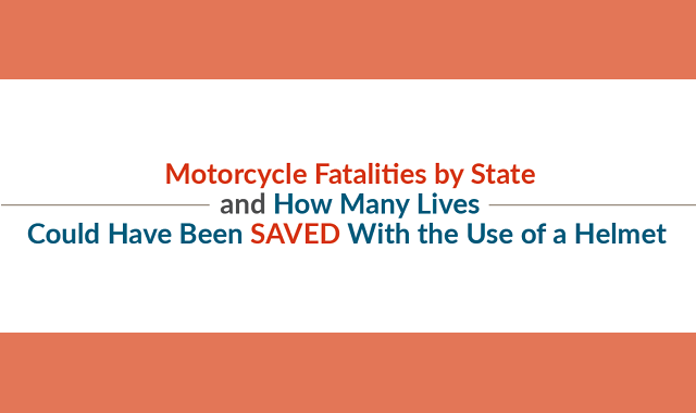Motorcycle Fatalities by State and How Many Lives Could Have Been Saved With the Use of a Helmet