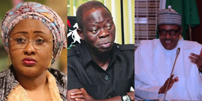 Aisha Buhari Stops Oshiomhole From Entering Their House?