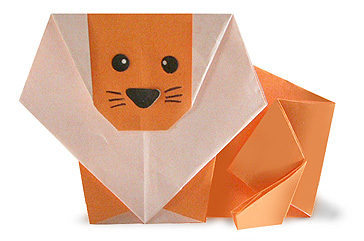 Paper Origami Turtle Diagram S13 240sx Headlight Wiring Animals Origami: Lion | Guide
