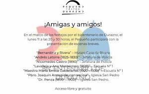 Bicentenario: Pequeño Teatro Durazno dio detalles de su presencia en los festejos