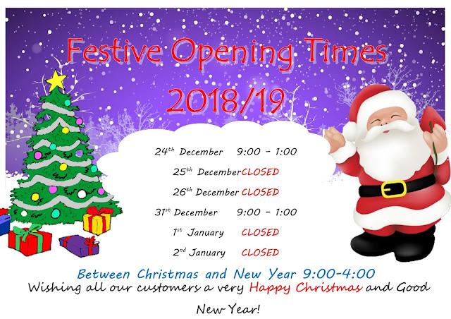 Ardfern Festive Opening Times