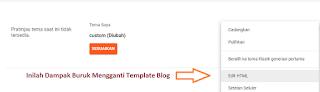 Inilah Dampak Buruk Mengganti Template Blog