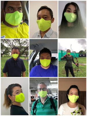 Source: SmartComm World. People wearing the  SingaMask 365.