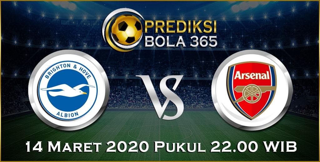 Prediksi Skor Bola Brighton vs Arsenal 14 Maret 2020