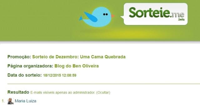 Resultado Sorteio de Livro Blog do Ben Oliveira