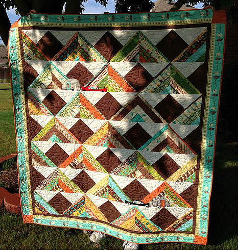 S'more Mountains Jelly Roll Quilt Free Tutorial
