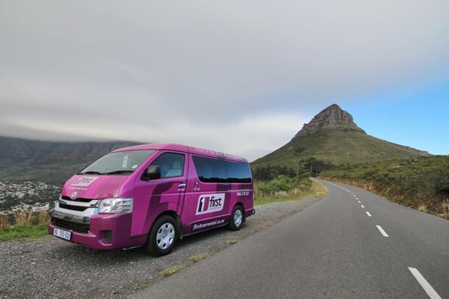 Nuestro coche de First Car Rental en Ciudad del Cabo