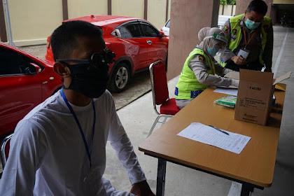 Panitia Penerimaan Bakomsus Perawat dan Bidan Polri TA 2020 Polda Sulsel Gelar Pemeriksaan Kesehatan Tahap I