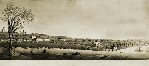 View of Moreton Bay Settlement, 1835.