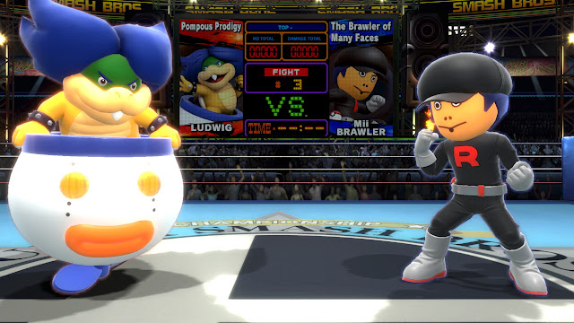 Super Smash Bros. Ultimate Boxing Ring Ludwig Von Koopa Team Rocket Grunt Mii Brawler titles Pompous Prodigy many faces