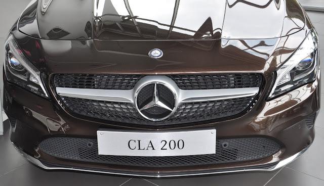 Mercedes CLA 200 2017 có dáng vẻ thể thao và hầm hố