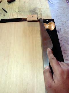 Preparando la unión de la tapa armónicas de cedro rojos - ANTILKO