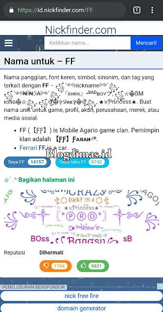Cara Membuat Nickname Game PUBG FF Unik Dan Keren