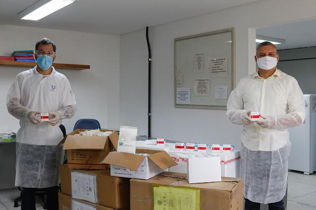 24 mil testes para Covid-19 doados pela Unilever chegam à Secretaria Estadual de Saúde de Pernambuco