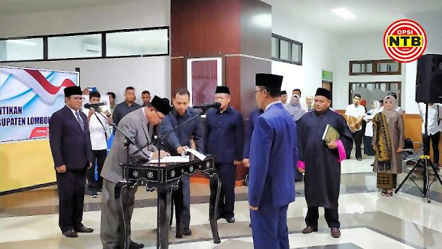 Juaini Taufik Dilantik Sebagai Sekda Lombok Timur