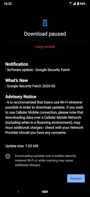 Nokia 7.2 receiving May 2020 Android Security patch