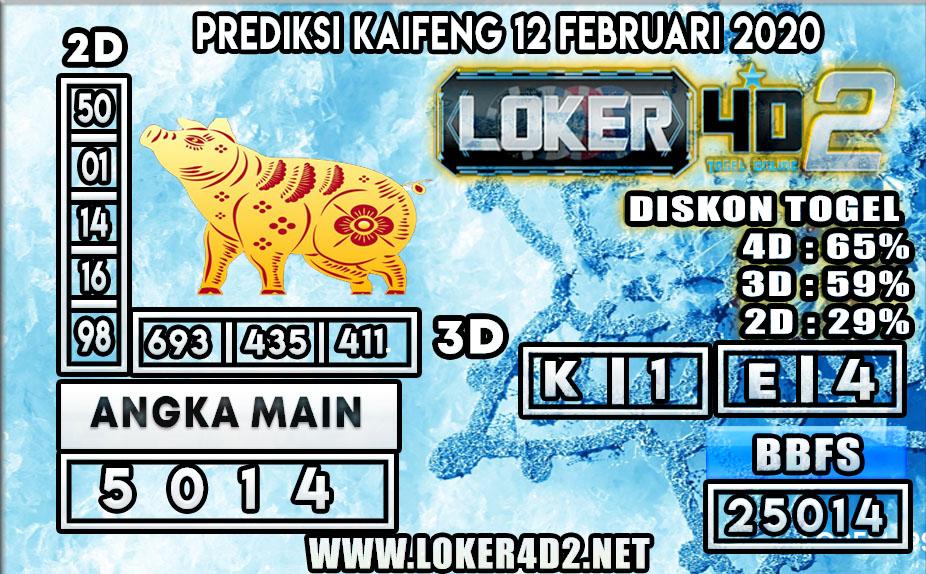PREDIKSI TOGEL KAIFENG LOKER4D2 12 FEBRUARI 2020