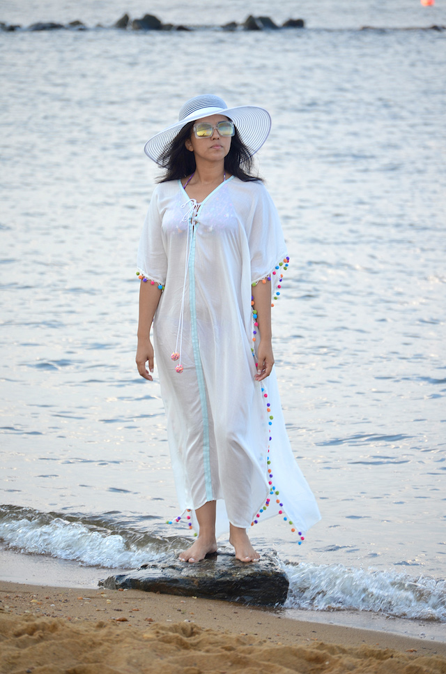 Pom-Pom Kaftan Dress-MariEstilo-Lookoftheday-fashionblogger-shein-blogger-mariestilotravels