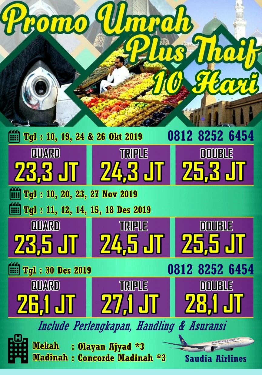 Umroh Promo 2019 Program 10 Hari