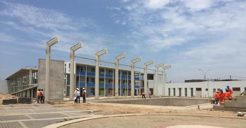 PRONIED inició la construcción del saldo de obra del colegio emblemático José Granda - www.pronied.gob.pe
