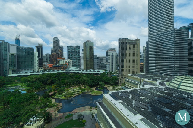View of KLCC Part from the Junior Suite at Four Seasons Hotel Kuala Lumpur