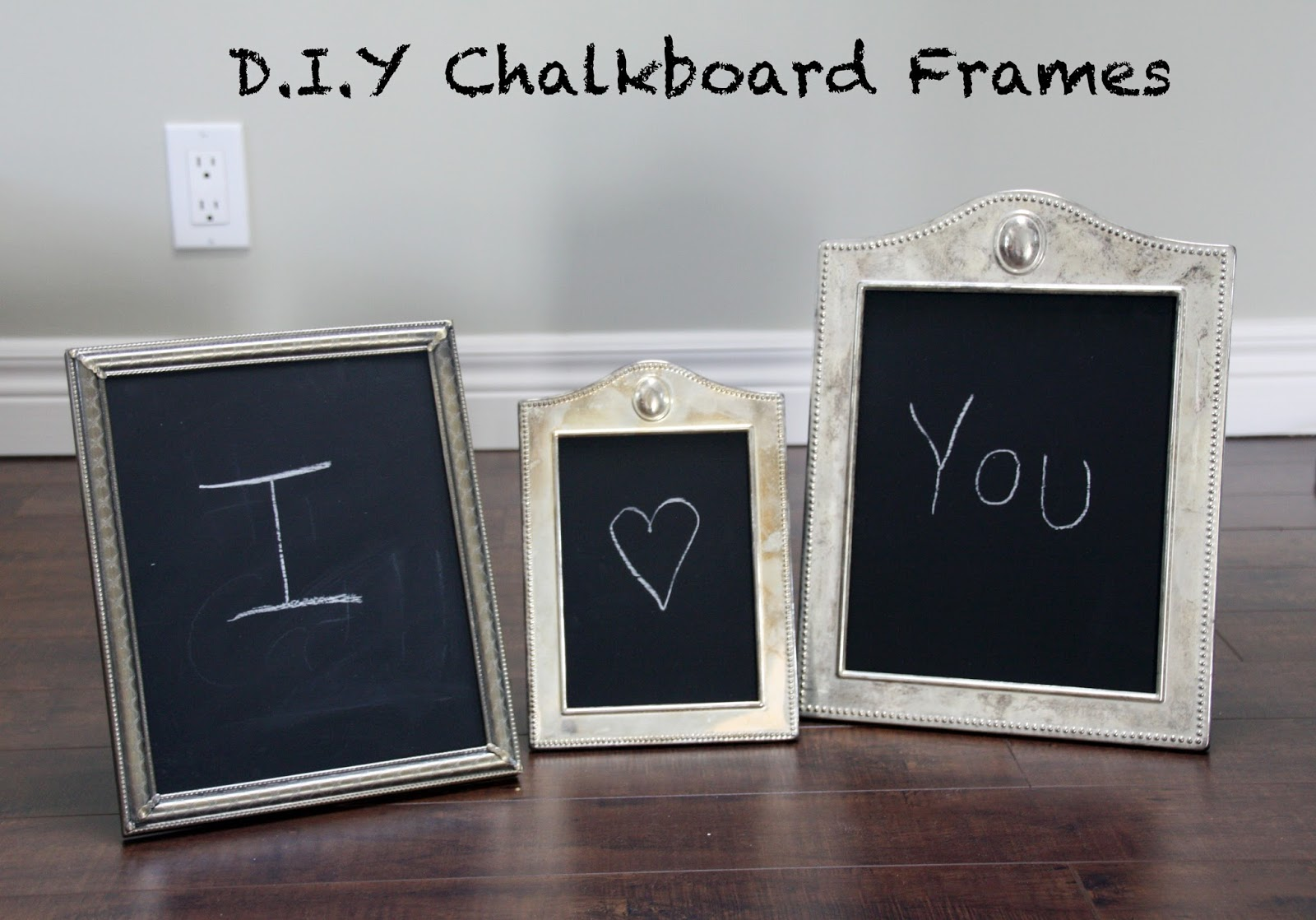 D.I.Y chalkboard frames