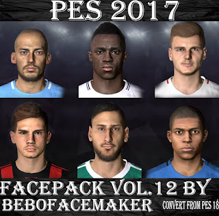 PES 2017 Facepack Vol. 12 by Bebo Facemaker