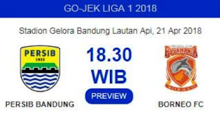 Head to Head Persib vs Borneo FC