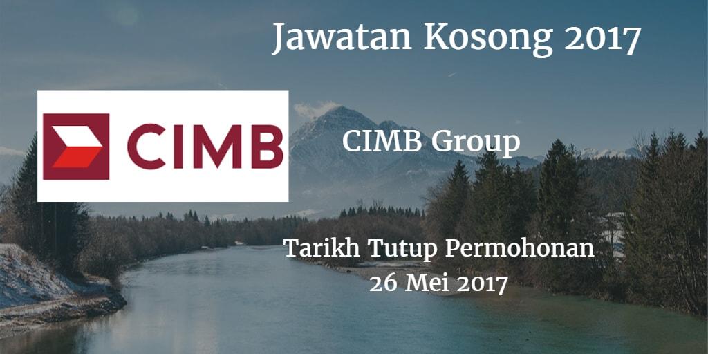 Jawatan Kosong CIMB Group 26 Mei 2017