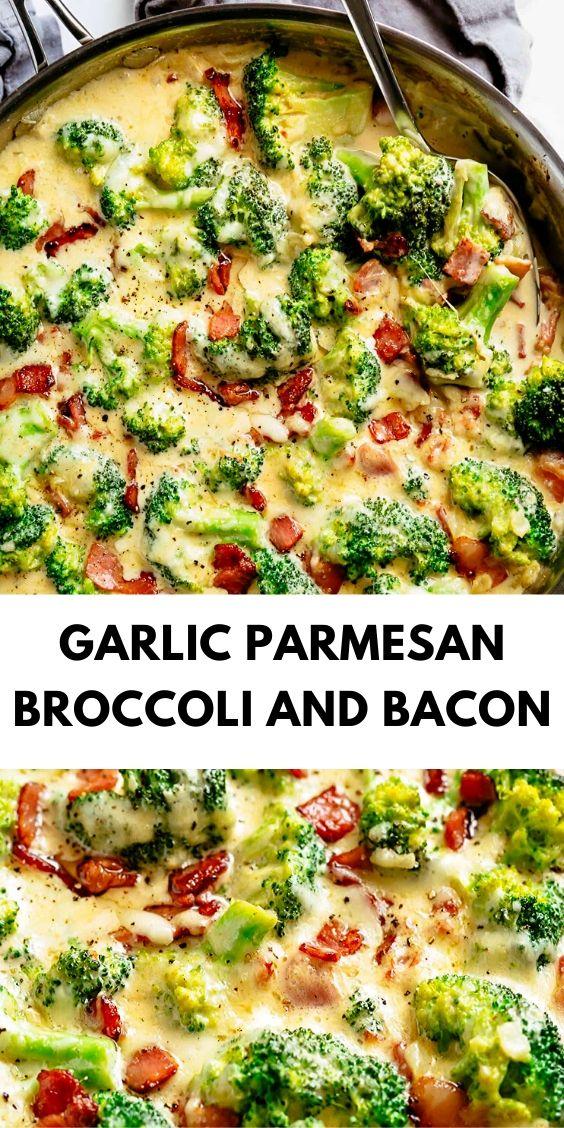 Garlic Parmesan Broccoli and Bacon